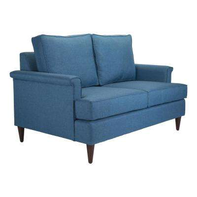 Campbell Blue Loveseat
