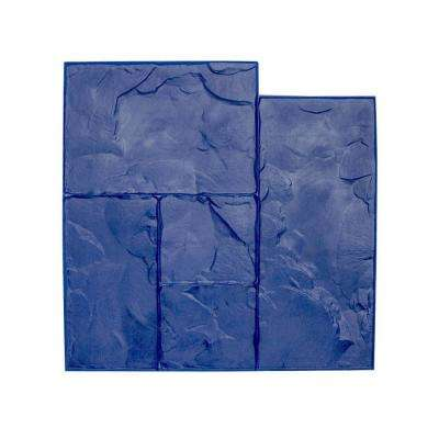 24 in. x 24 in. Ashlar Blue Texture Stamp