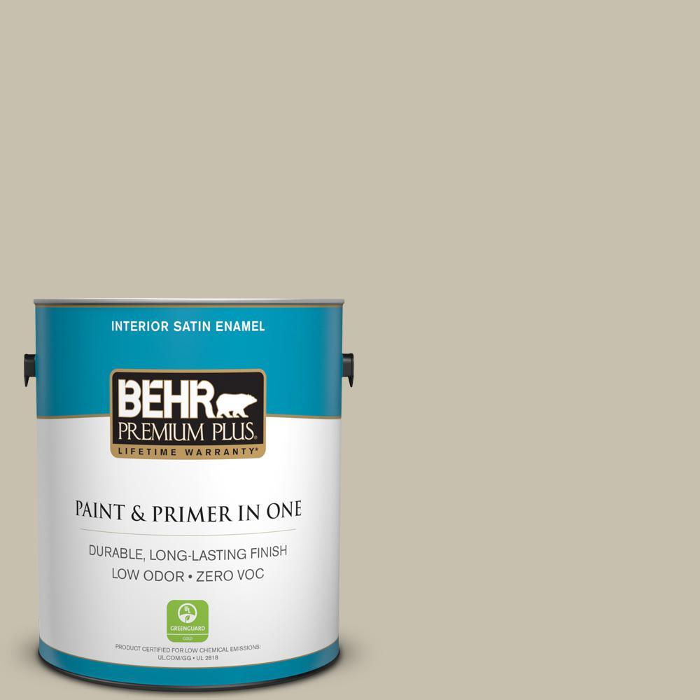 BEHR Premium Plus 1-gal. #BXC-56 Stone Creek Satin Enamel Interior Paint