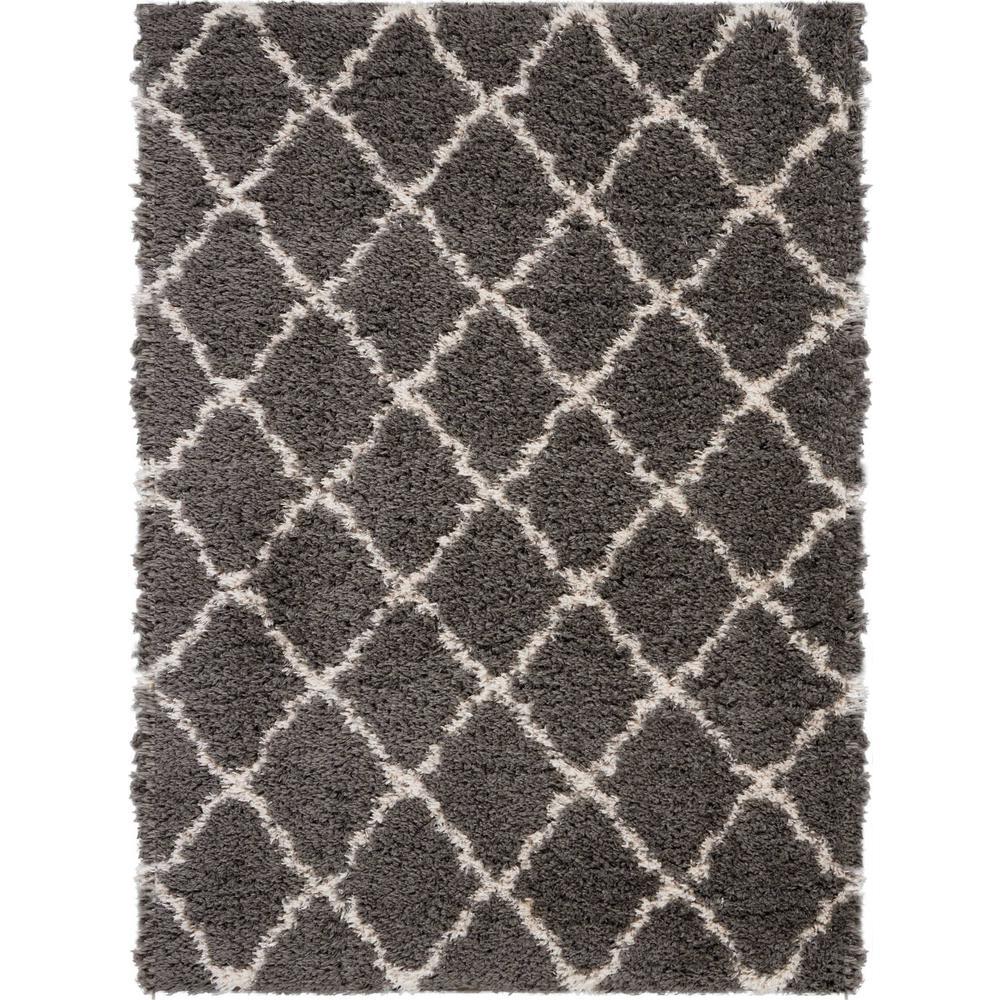 Ultra Plush Shag 8' x 10' Dark Grey Plush Area Rug