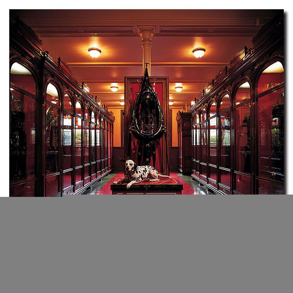 Trademark Fine Art 24 in. x 24 in. Clydesdale Historic Museum Canvas Art