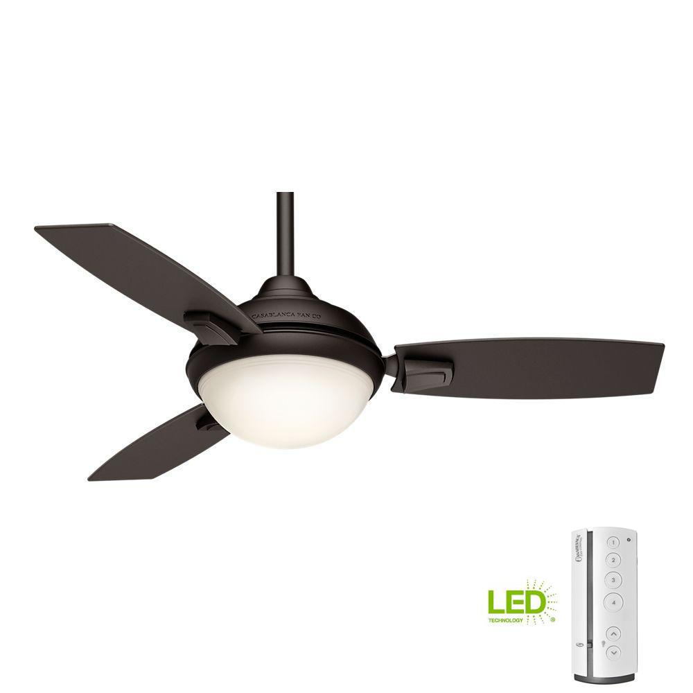Casablanca Verse 44 in. LED Indoor/Outdoor Maiden Bronze Ceiling Fan with remote