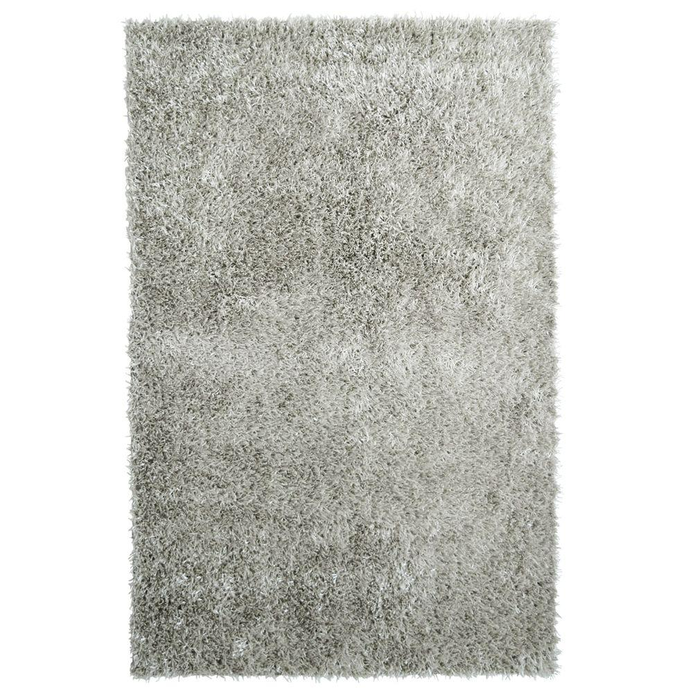 Home Decorators Collection City Sheen Silver Polyester 8 ft. x 10 ft. Area Rug
