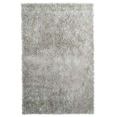 City Sheen Silver Polyester 8 ft. x 10 ft. Area Rug