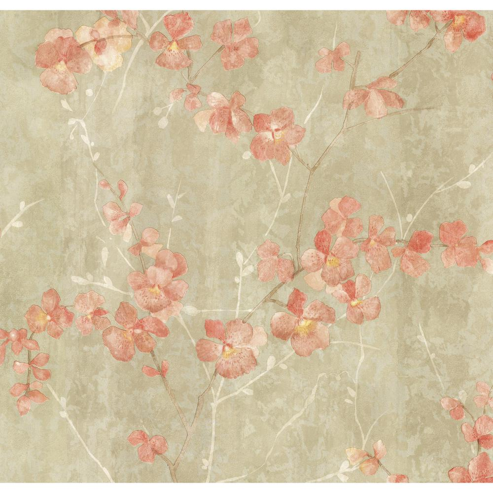 Chapman Green Cherry Blossom Trail Wallpaper Sample
