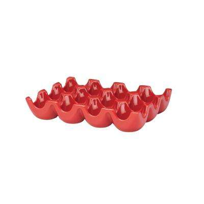 12-Cup Egg Tray in Red
