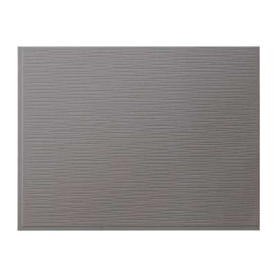 Ripples 24.25 in. x 18.25 in. Vinyl Backsplash in Titanium Grey