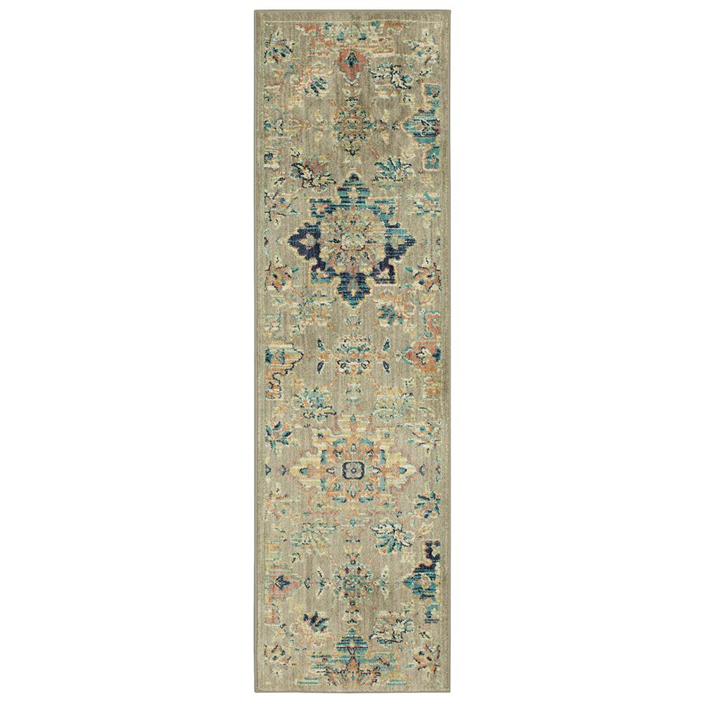 LifeProof Isabella Grey 2 ft. x 7 ft. Runner Rug