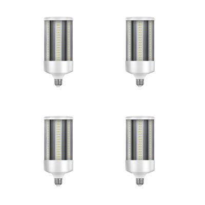 500W Equivalent Corn Cob E26 Base with E39 Mogul Adapter High Lumen Daylight (5000K) HID Utility LED Light Bulb (4-Pack)