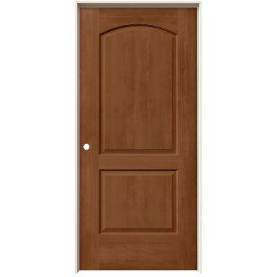 36 in. x 80 in. Continental Hazelnut Stain Right-Hand Solid Core Molded Composite MDF Single Prehung Interior Door