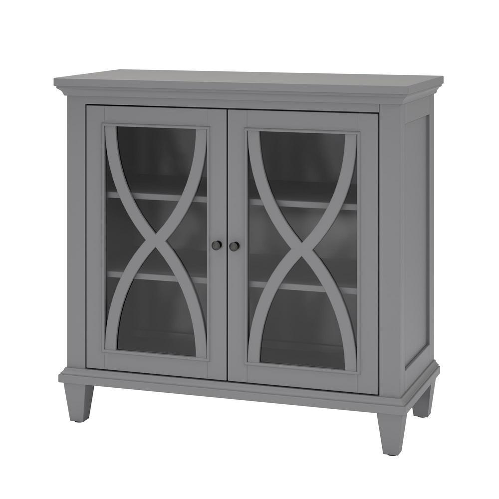 Satinwood Gray Storage Cabinet