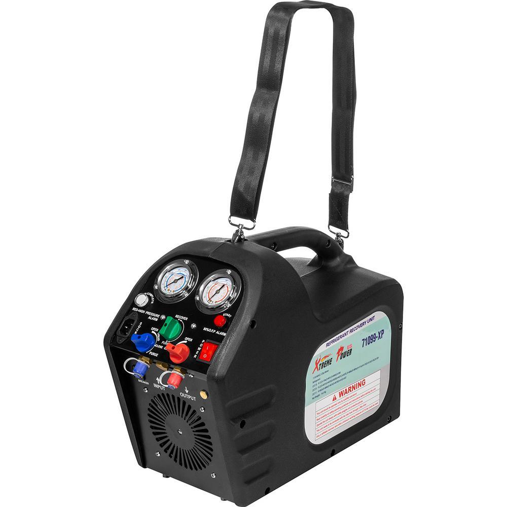 XtremepowerUS 115-Volt 1/2 HP Portable Refrigerant Recovery Machine, HVAC  A/C R12 R22 R134 R407C R410A