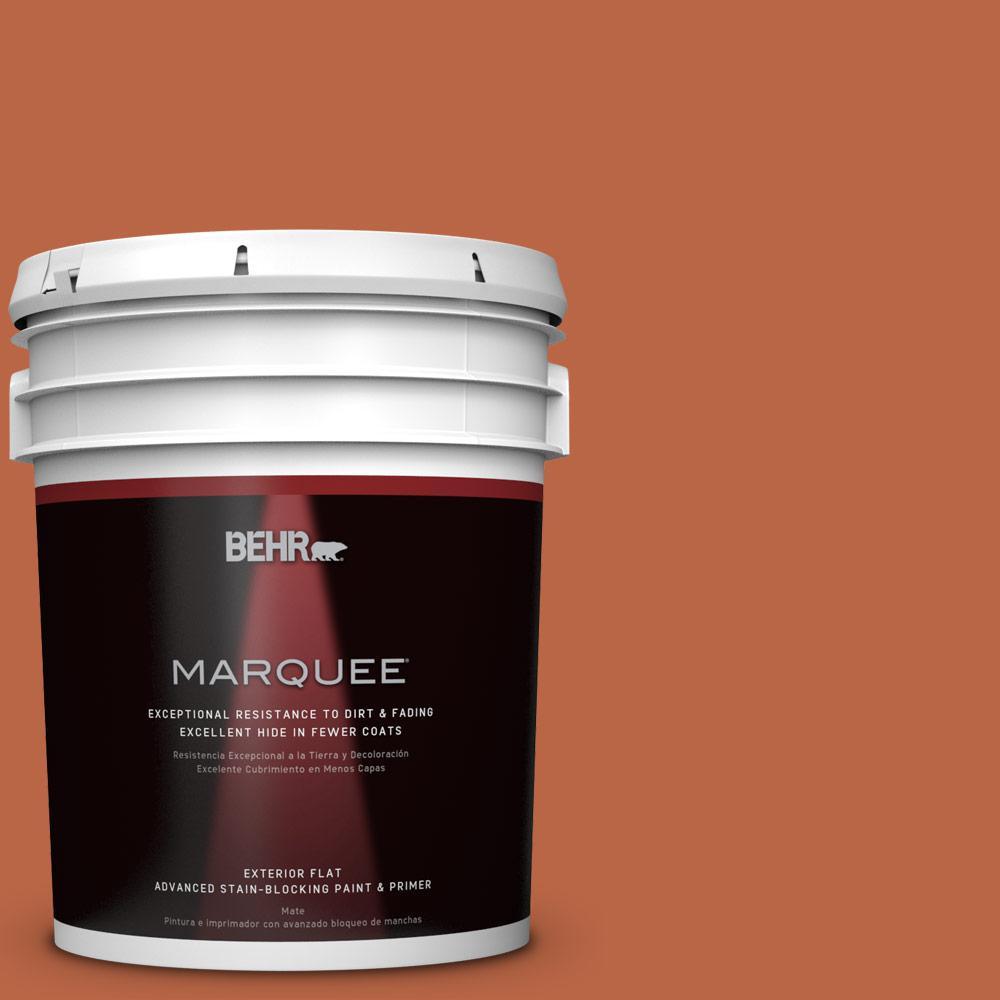 5 gal. #HDC-FL15-01 Pumpkin Drizzle Matte Exterior Paint