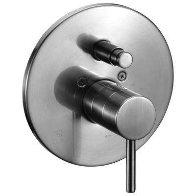 Single-Handle Shower Mixer with Sleek Modern Design in Brushed Nickel