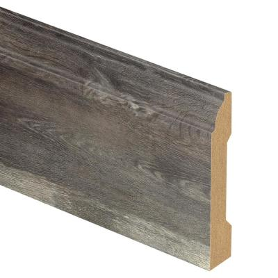 Crestwood Gray Oak/Courtship Grey Oak/Dowden 9/16 in. Thick x 3-1/4 in. Wide x 94 in. Length Laminate Base Molding