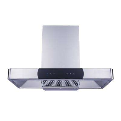 36 in. 900 CFM Ducted Wall Mount Range Hood in Stainless Steel, Baffle Filter, Touch Control, Turbo Boost, Self Clean