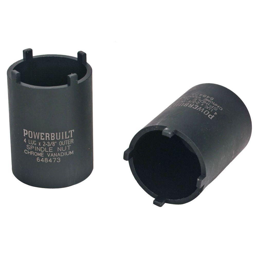 powerbuilt 4-outer lug spindle nut socket-648473