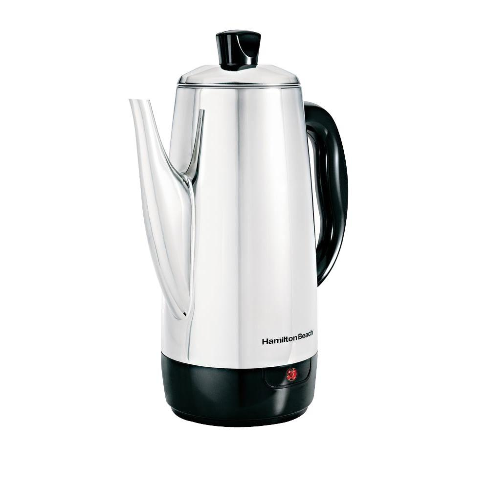 Hamilton Beach 12-Cup Percolator, Stainless