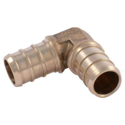 1/2 in. Brass PEX 90-Degree Barb Elbow (10-Pack)