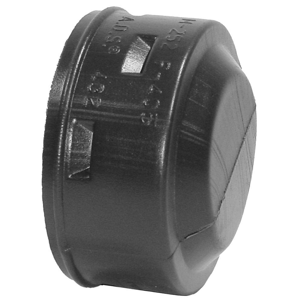 Advanced Drainage Systems 10 in. Solid Snap End Cap