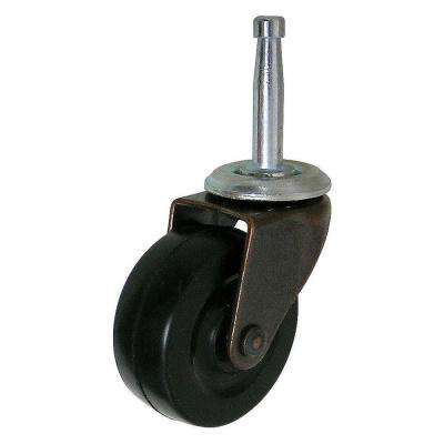 1-31/32 in. Black and Copper Caster with 88.2 lbs. Load Rating