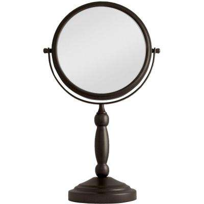 16 in. L x 9 in. W Dual-Sided Swivel Vanity Mirror in Oil-Rubbed Bronze