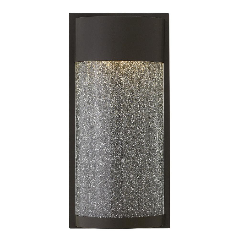 Shelter 1-Light Buckeye Bronze LED Outdoor Wall Lantern Sconce