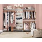 Impressions Basic 60 in. W - 120 in. W White Wood Closet System