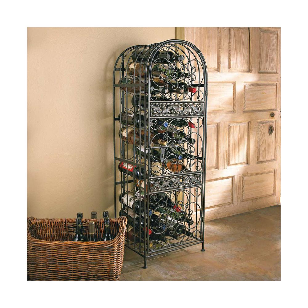 45-Bottle Antique Floor Wine Rack