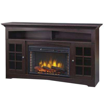 Huntley 59 in. Freestanding Electric Fireplace TV Stand in Espresso