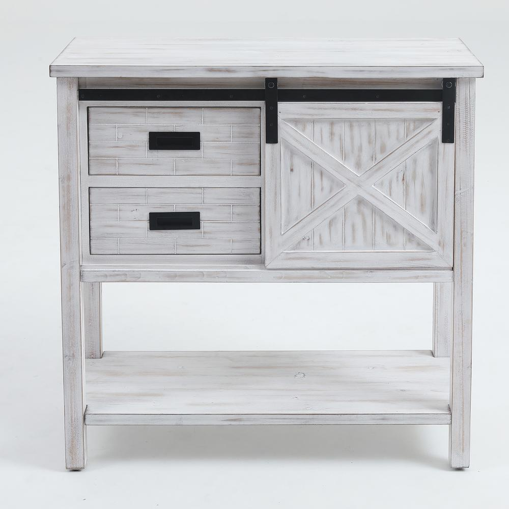 Winsome House 35 In White Standard Rectangle Wood Console Table With Drawers Whif373 The Home Depot