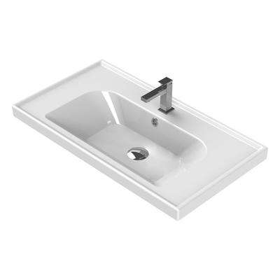 Frame Wall Mounted Bathroom Sink in White