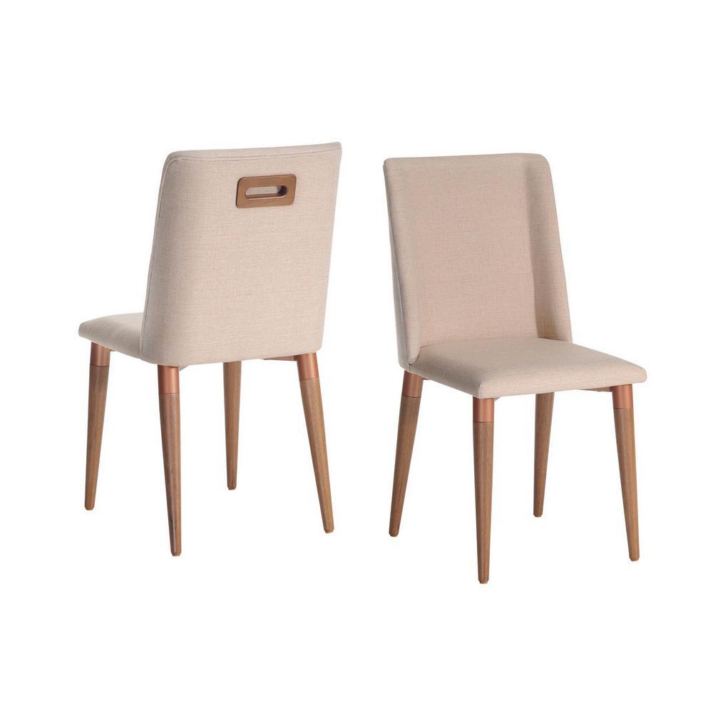 Tampa 2-Piece Dark Beige Dining Chair