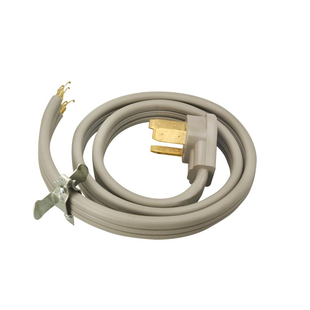 Ge 4 Ft 3 Prong 40 Amp Electric Range Cord Wx09x10006ds The Home Household Male Plug Wiring Diagram 6 2 8 1 Wire