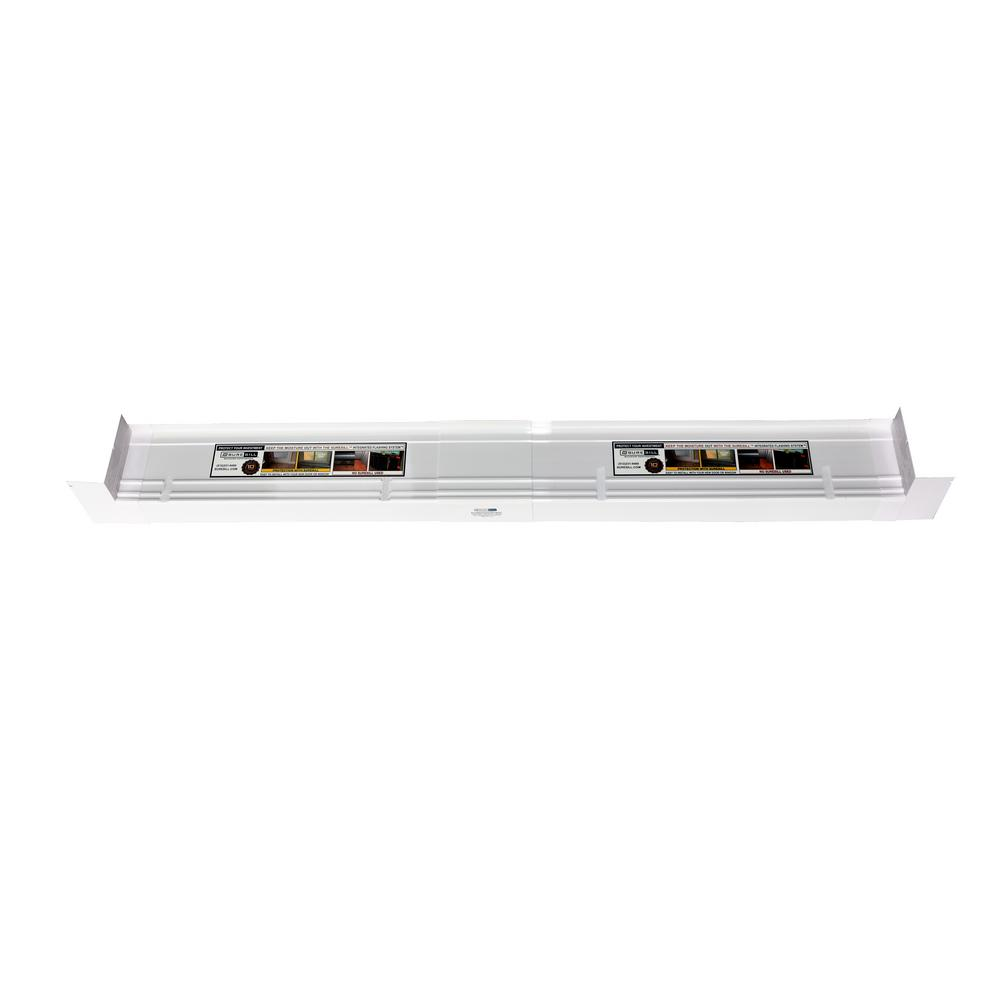 4-9/16 in. x 117 in. White PVC Slopped Sill Pan for