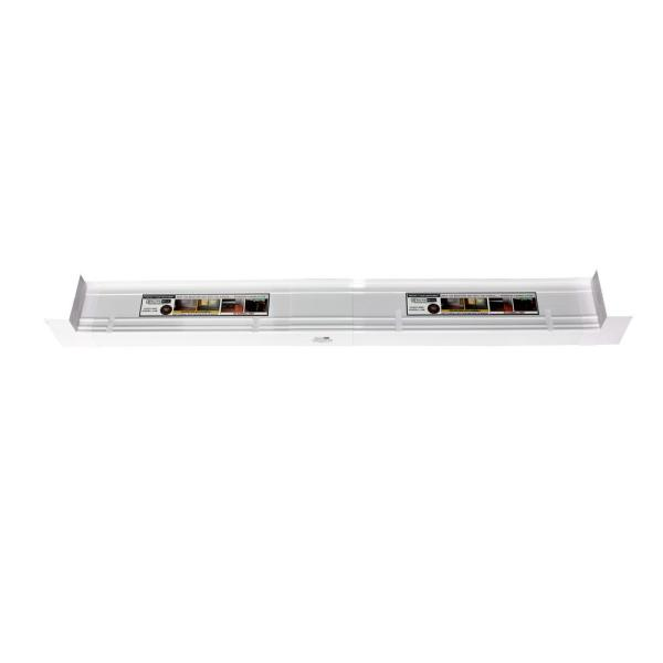 4-9/16 in. x 117 in. White PVC Slopped Sill Pan for Door and Window Installation and Flashing (Complete Pack)