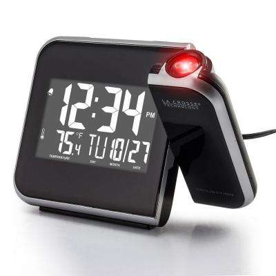 5.95 in. W x 4.50 in. H Projection Alarm Clock with Indoor Temperature
