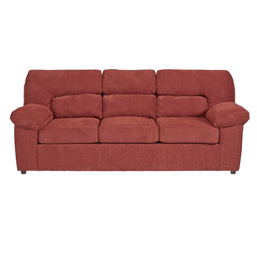 Progressive Furniture Duke Red Chenille Upholstered Sofa U2071-SF ...