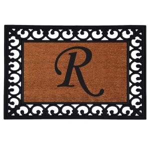 Home & More Monogram Insert Door Mat 19 inch x 25 inch (Letter R) by Home & More