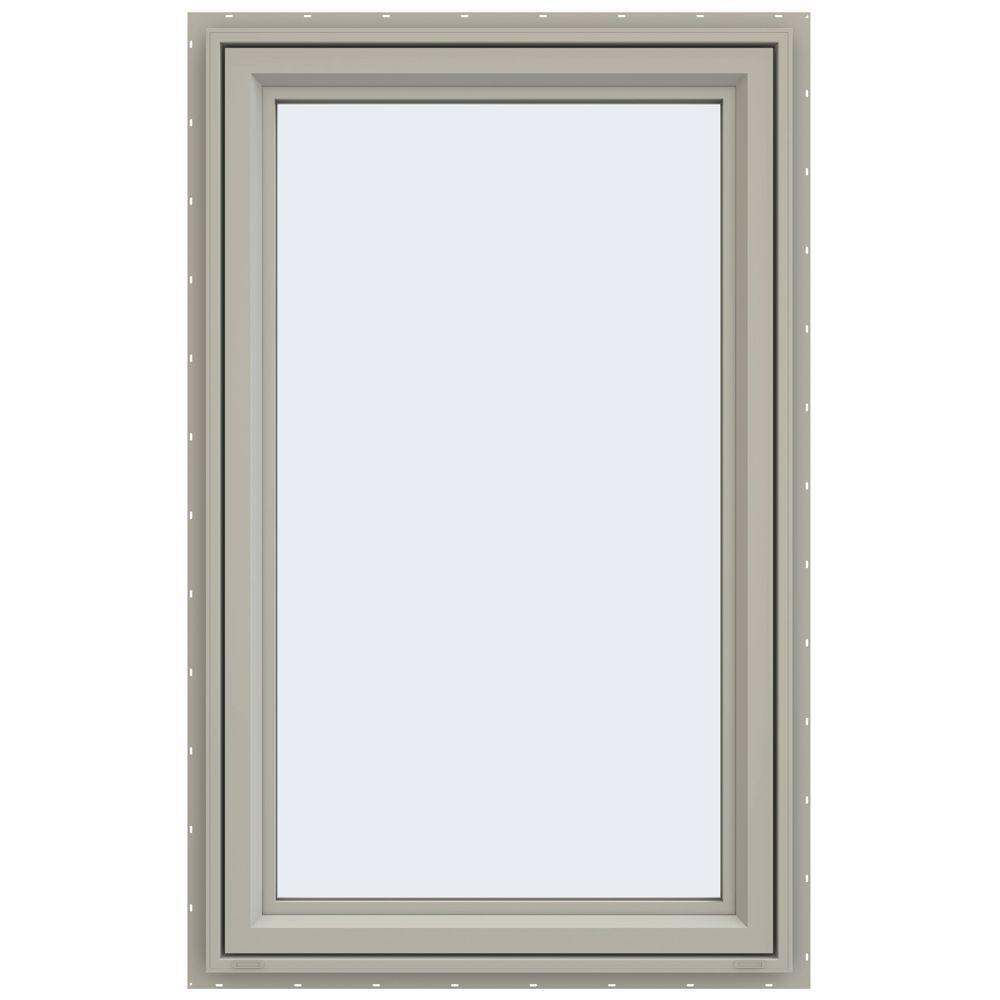 JELD-WEN 29.5 in. x 47.5 in. V-4500 Series Right-Hand Casement Vinyl Window - Tan