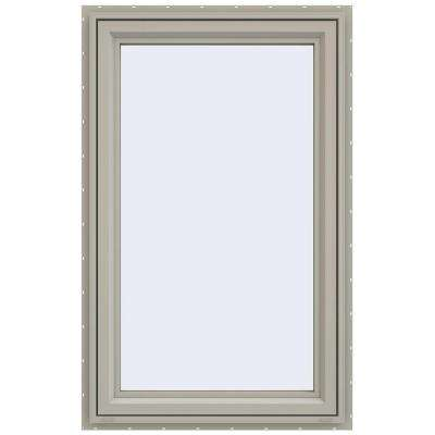29.5 in. x 47.5 in. V-4500 Series Left-Hand Casement Vinyl Window - Tan
