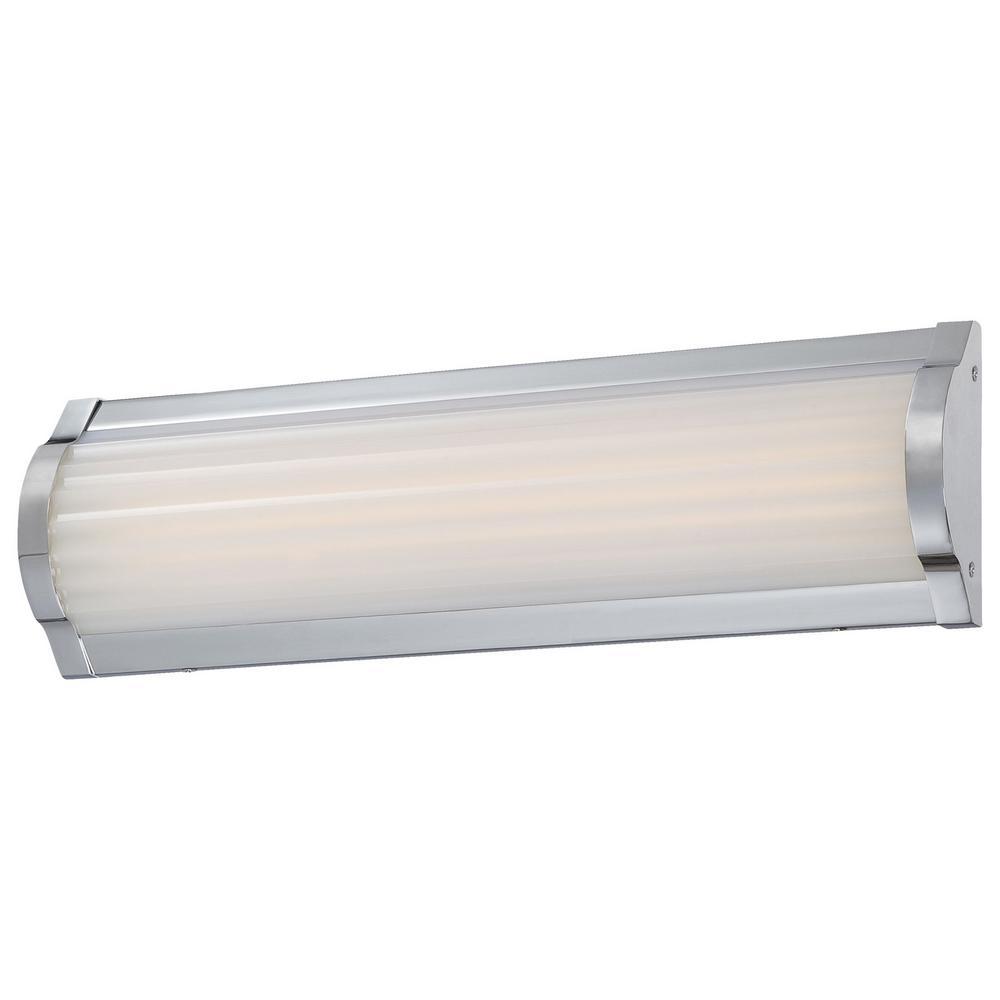 Verin 28-Watt Chrome Integrated LED Bath Light
