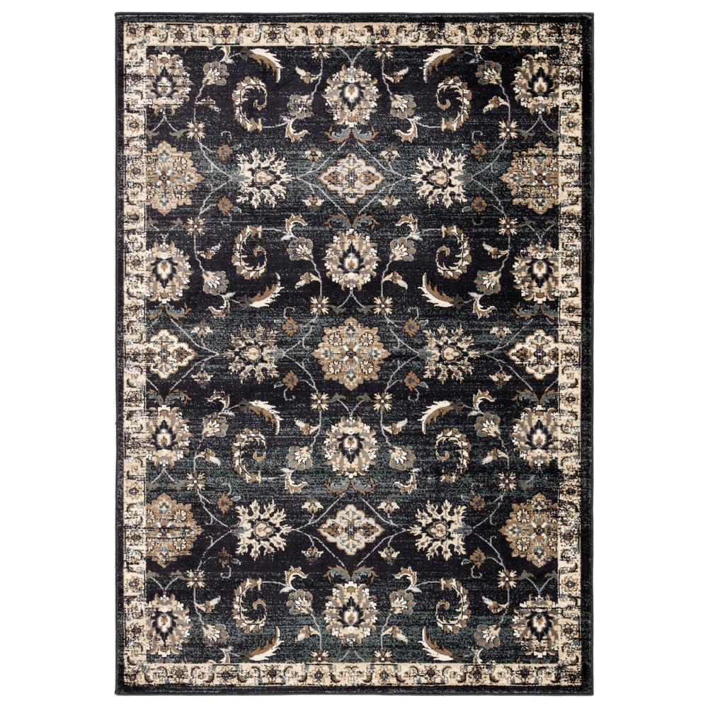 Jaipur Living Sanah Dark Gray 7 ft. 10 in. x 10 ft. 10 in. Traditional Area Rug