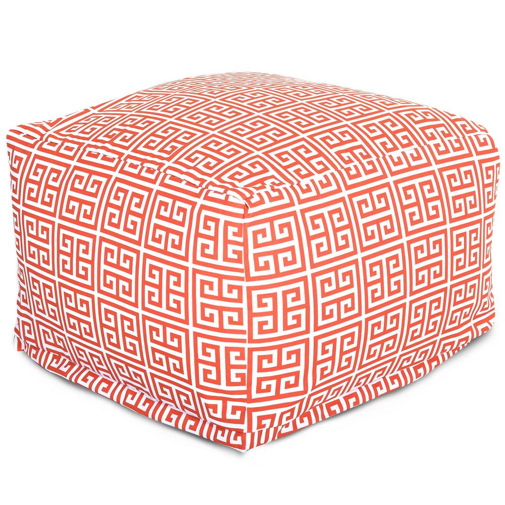 Majestic Home Goods Orange Towers Indoor/Outdoor Ottoman Cushion