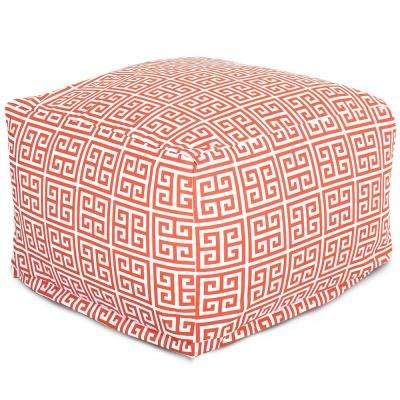 Orange Towers Indoor/Outdoor Ottoman Cushion