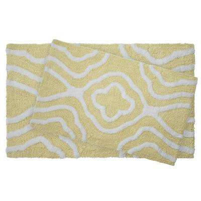 Reversible Cotton Soft Giri Banana 2-Piece Bath Mat Set