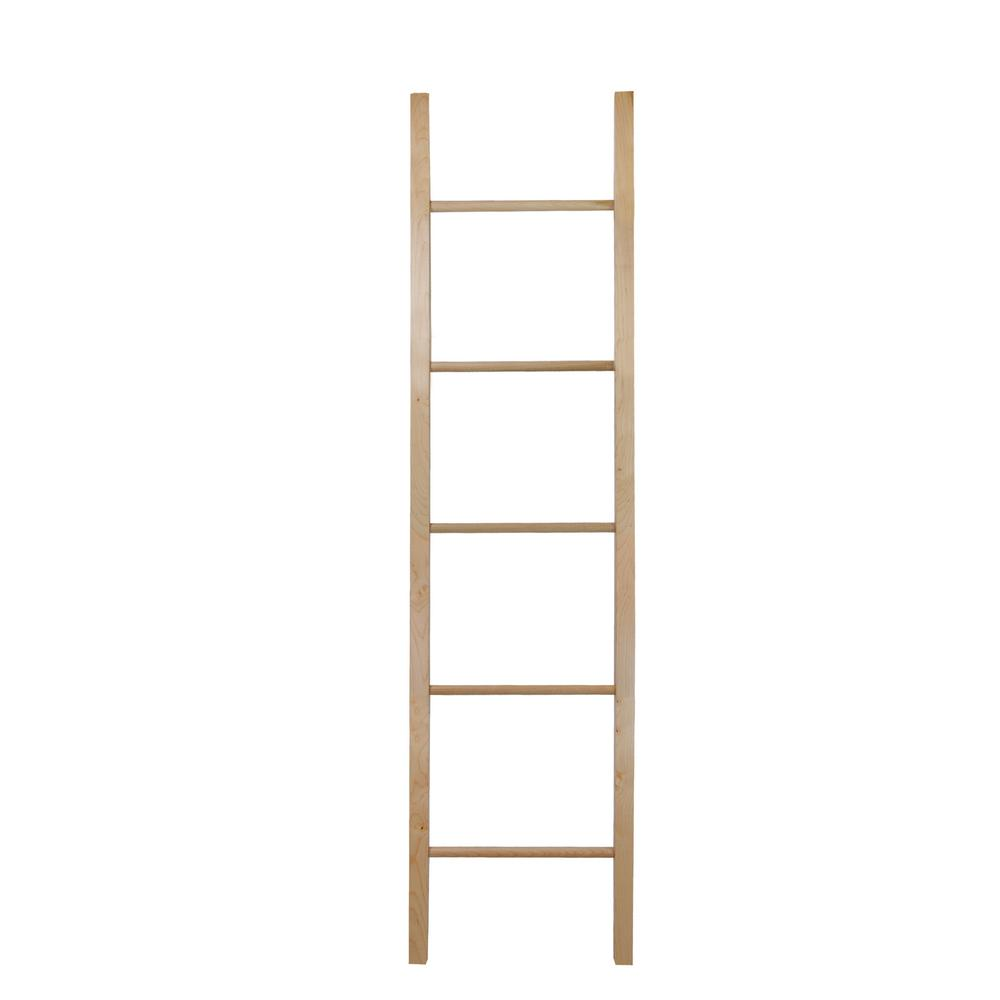 19 in. W x 1.6 in. D Espresso Decorative Ladder with