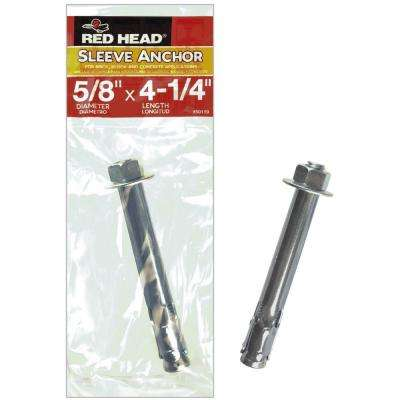5/8 in. x 4-1/4 in. Steel Hex Head Indoor Sleeve Anchor