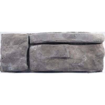 Panama 8.25 in. x 16 in. x 6 in. Gray Concrete Retaining Wall Garden Block