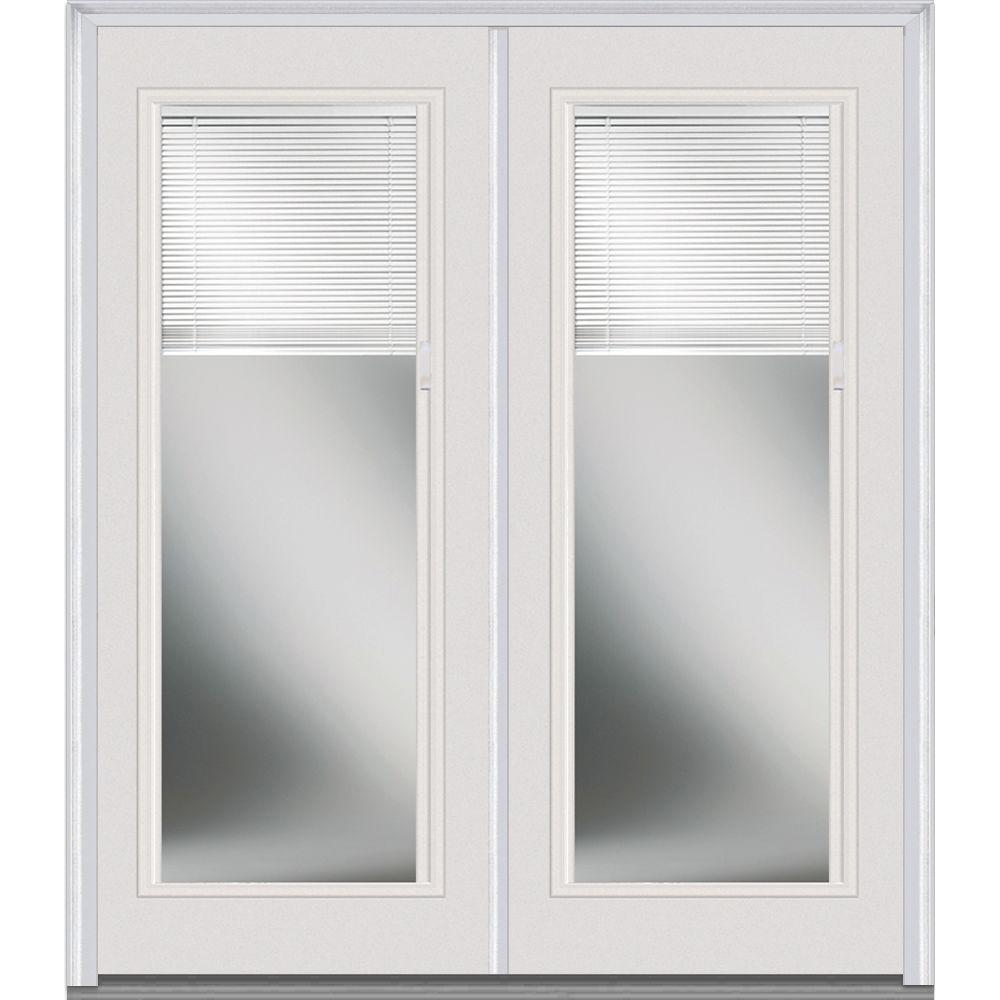 60 in. x 80 in. Internal Blinds Right-Hand Inswing Full Lite
